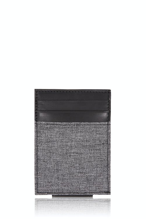 SWISSGEAR Money Clip Card Wallet - Black/Gray Heathered