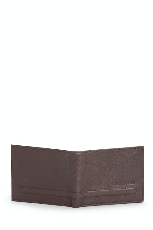 SWISSGEAR Raised Detail Bifold Wallet w/ RFID Blocking Genuine leather bifold construct