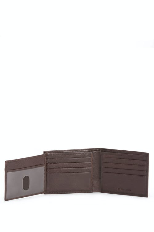 SWISSGEAR Raised Detail Bifold Wallet w/ RFID Blocking Eight card slots