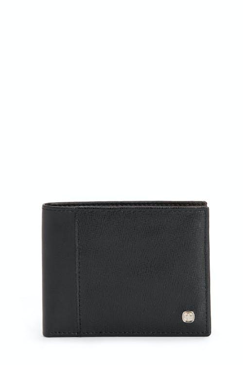 SWISSGEAR Saffiano Bifold Wallet w/ RFID Blocking - Black
