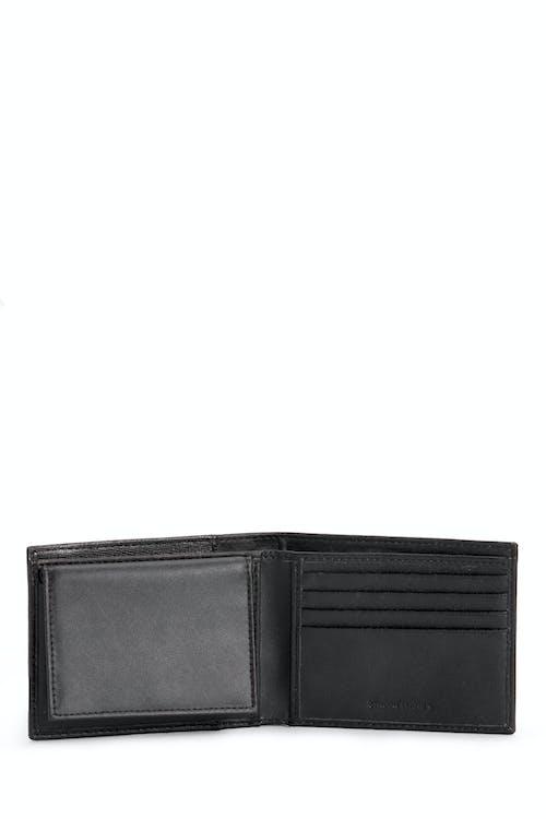 SWISSGEAR Saffiano Bifold Wallet w/ RFID Blocking Two side card slots