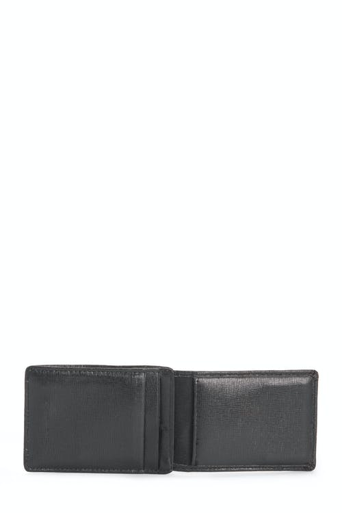 SWISSGEAR Saffiano/Red Stripe Magnetic Front Pocket Wallet w/ RFID Blocking Two card slots