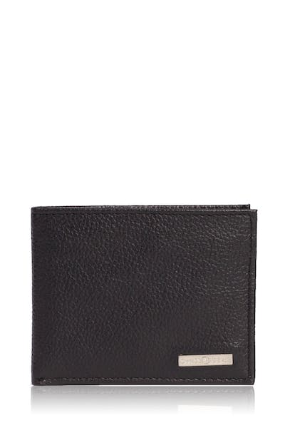 Swissgear Men's Slim Bifold Pebbled Leather Wallet - Black