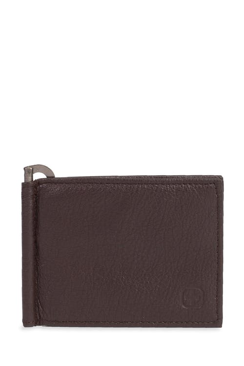 Swissgear Men's Slim Bifold Wallet With Money Clip - Slim brown frontal design