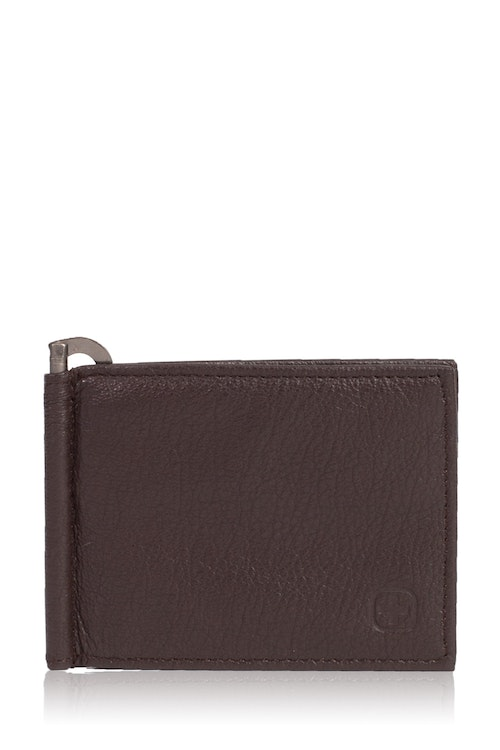 Swissgear Men's Slim Bifold Wallet With Money Clip - Brown