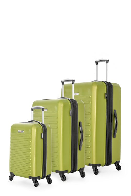 Swissgear Intercontinental Collection Hardside Luggage 3 Piece Set - Lime Green