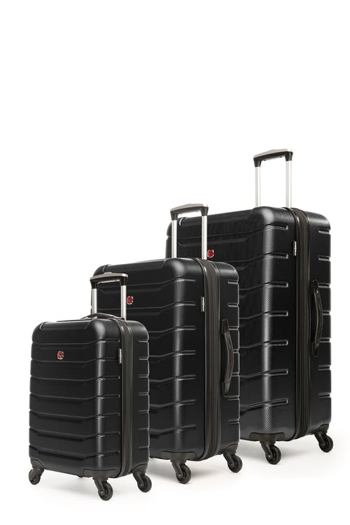 Swissgear Vaiana Collection Hardside Luggage 3 Piece Set - Black