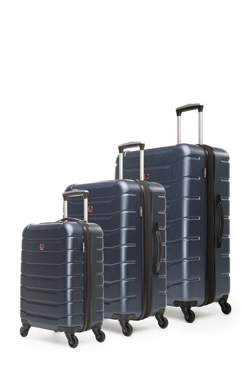 Swissgear Vaiana Collection Hardside Luggage 3 Piece Set - Navy