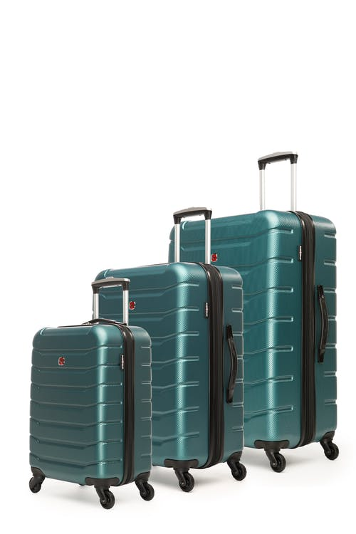 Swissgear Vaiana Collection Hardside Luggage 3 Piece Set - Teal