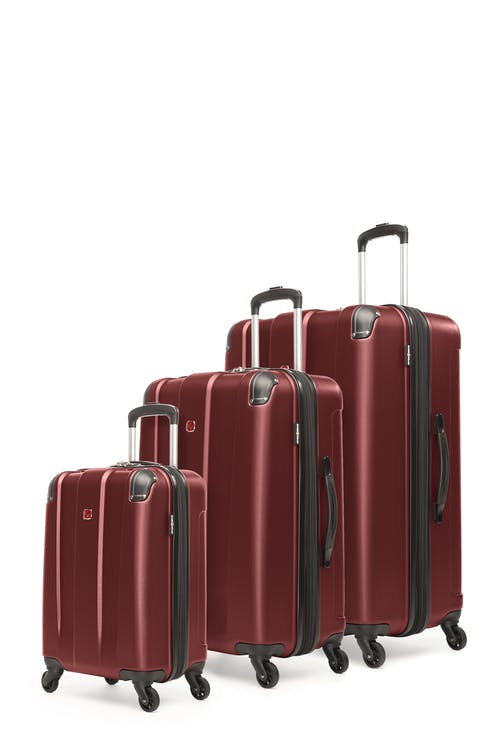 Swissgear Protector Collection Hardside Luggage 3 Piece Set - Oxblood