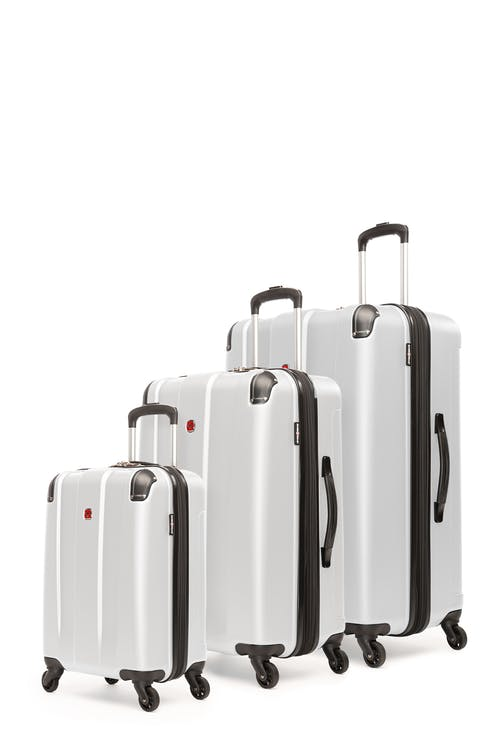 Swissgear Protector Collection Hardside Luggage 3 Piece Set - White