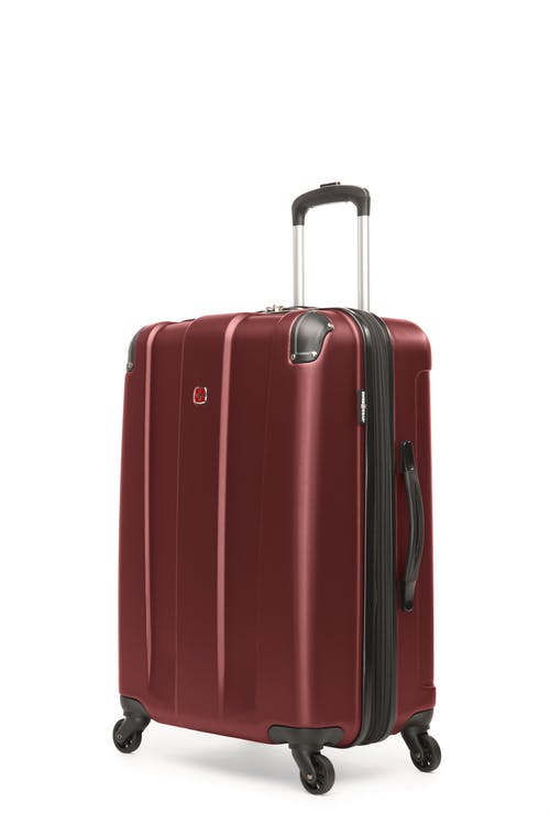 """Swissgear Protector Collection 24"""" Expandable Hardside Luggage - Oxblood"""