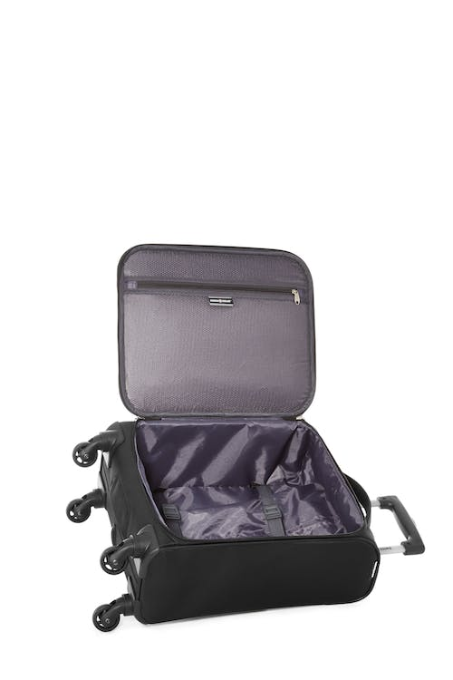 Swissgear Classic Collection - Carry-On Upright Luggage  Interlocking tie-down straps