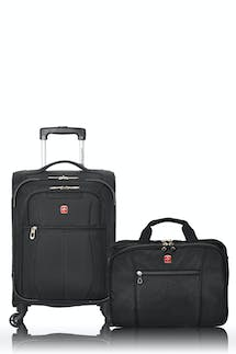 Swissgear 13882 Classic Collection Carry-On Upright Luggage and Computer-Friendly Briefcase Combo - Black