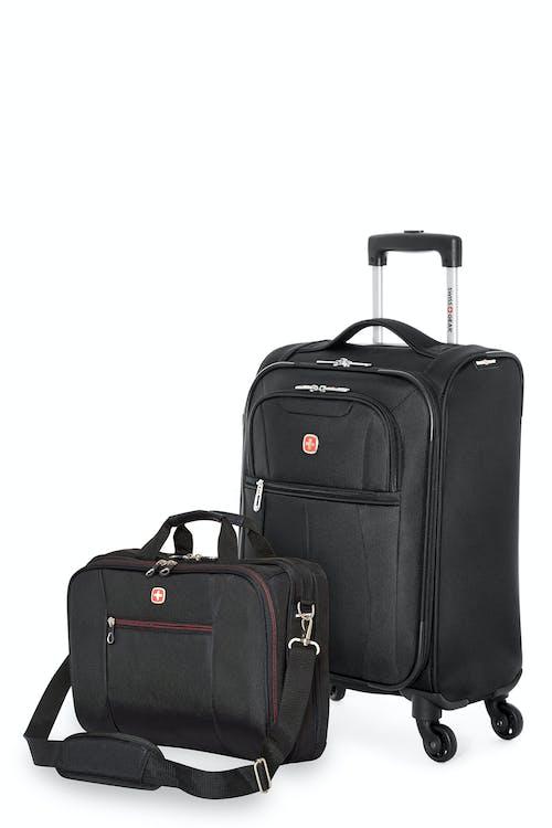 Swissgear 13882 - Ensemble de voyage - Valise de cabine de la collection Classic + Porte-documents adapté pour ordinateur - Noir