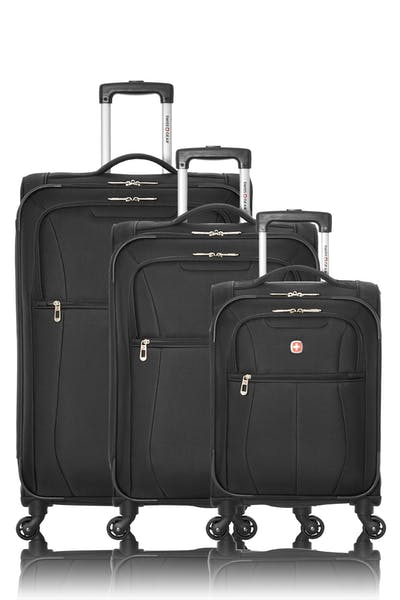 Swissgear Classic Collection Upright Luggage 3 Piece Set - Black