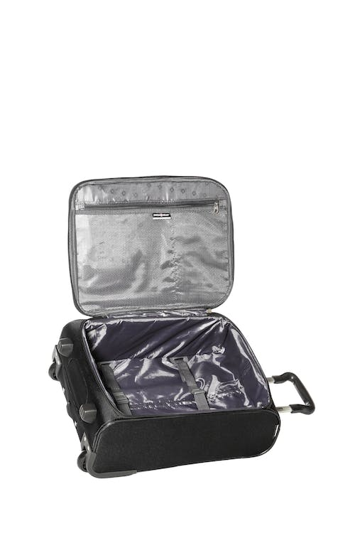 Swissgear Baffin II Collection Carry-On Softside Luggage  Interior tie-down straps