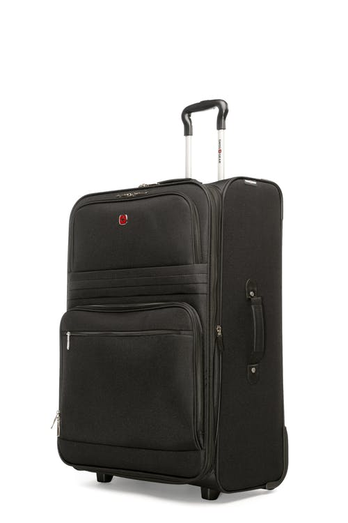 """Swissgear Baffin II Collection 28"""" Expandable Softside Luggage - Black"""