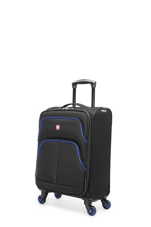 Swissgear Empire Collection - Carry-On Upright Luggage - Black / Blue