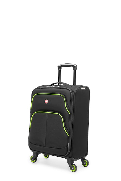 Swissgear Empire Collection - Carry-On Upright Luggage - Black / Lime