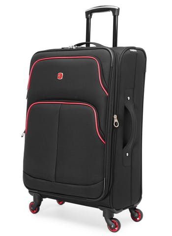 SWISSGEAR EMPIRE COLLECTION 24-inch EXPANDABLE UPRIGHT LUGGAGE - BLACK / PINK
