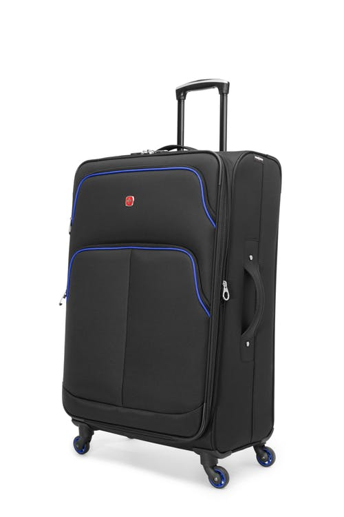 "Swissgear Empire Collection 28"" Expandable Upright Luggage - Black / Blue"