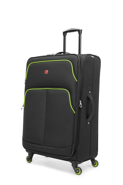 "Swissgear Empire Collection 28"" Expandable Upright Luggage - Black / Lime"