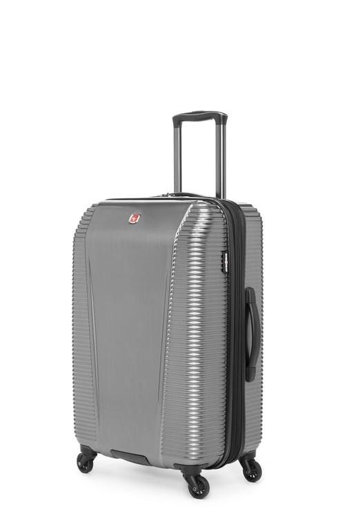 """Swissgear Whistler Collection 24"""" Expandable Hardside Luggage - Silver"""