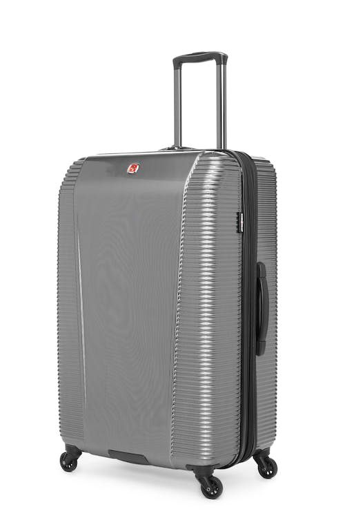 """Swissgear Whistler Collection 28"""" Expandable Hardside Luggage - Silver"""
