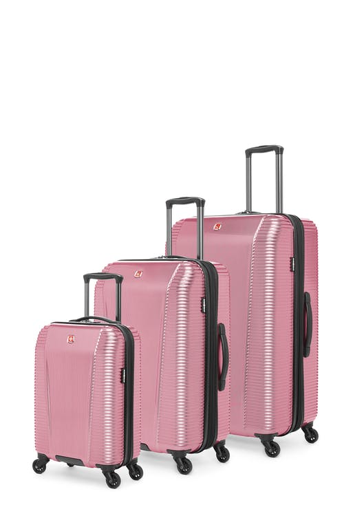 Swissgear Whistler Collection Hardside Luggage 3 Piece Set - Ruby Red