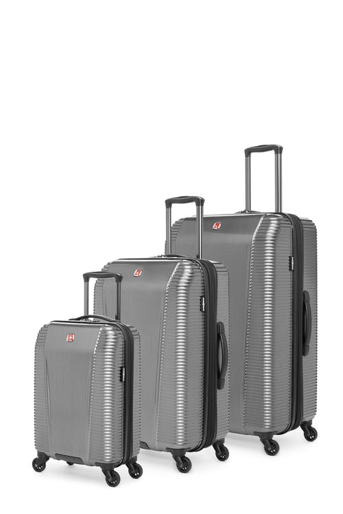 Swissgear Whistler Collection Hardside Luggage 3 Piece Set - Silver