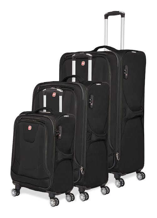 Swissgear Neolite III Collection Upright Luggage 3 Piece Set - Black