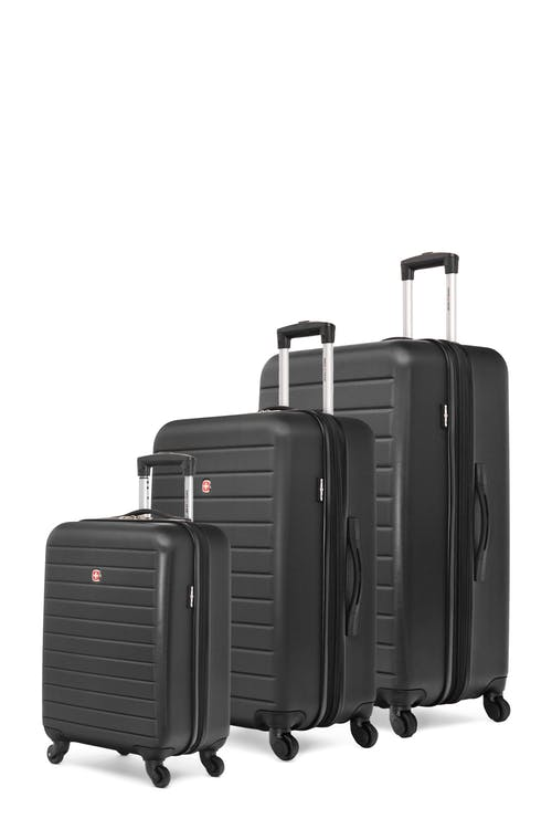 Swissgear In-Transit Collection Expandable Hardside Luggage 3 Piece Set - Black