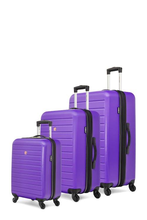 Swissgear In-Transit Collection Expandable Hardside Luggage 3 Piece Set - Grape