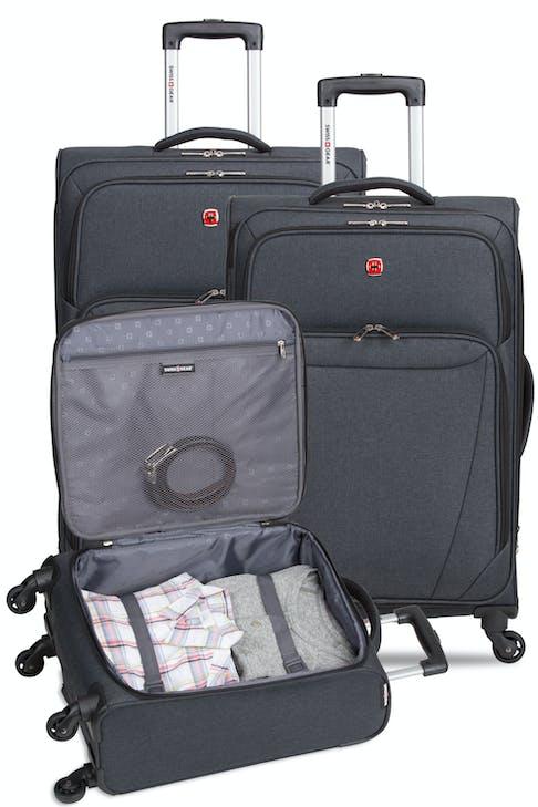 "Swissgear 2140 Hardside Spinner Luggage 3pc set contains the 18"" Spinner 24"" and 28"" Expandable Spinner Luggage"