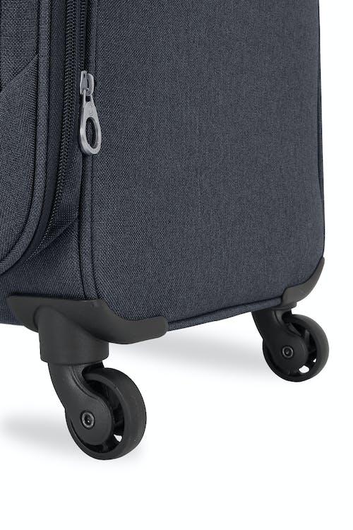 Swissgear 2140 Hardside Spinner Luggage Four 360-degree, multi-directional spinner wheels