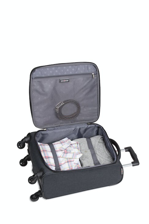 """Swissgear 2140 24"""" Expandable Spinner Luggage - Open View"""