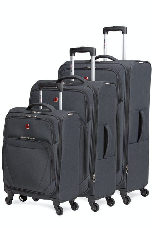 Swissgear 2140 Hardside Spinner Luggage 3pc set- Gray Heather