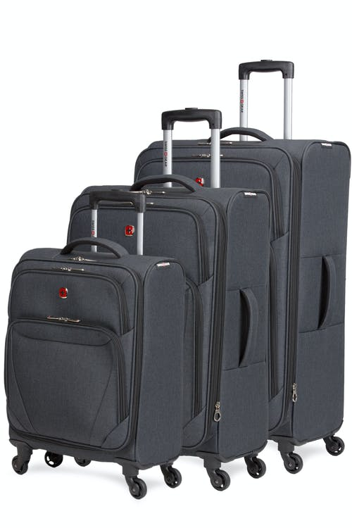 Swissgear 2140 Expandable Spinner Luggage 3pc set- Gray Heather