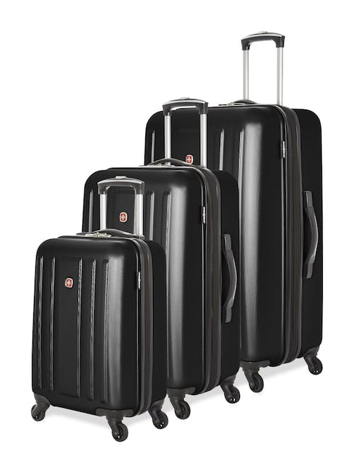 Swissgear La Sarinne Collection Hardside Luggage 3 Piece Set - Black