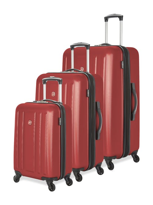 Swissgear La Sarinne Collection Hardside Luggage 3 Piece Set - Oxblood