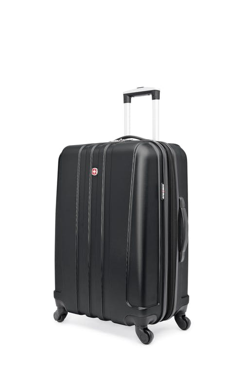 """Swissgear Pinnacle Collection 24"""" Expandable Hardside Luggage - Black"""
