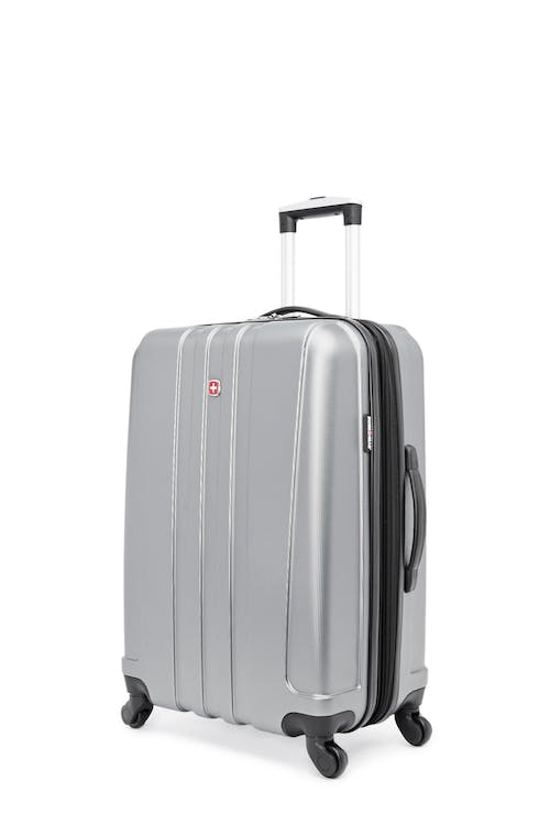 """Swissgear Pinnacle Collection 24"""" Expandable Hardside Luggage - Grey"""