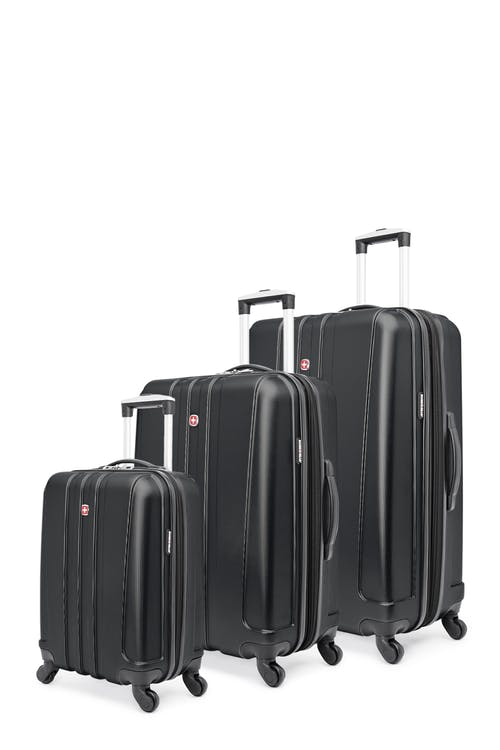 Swissgear Pinnacle Collection Hardside Luggage 3 Piece Set - Black
