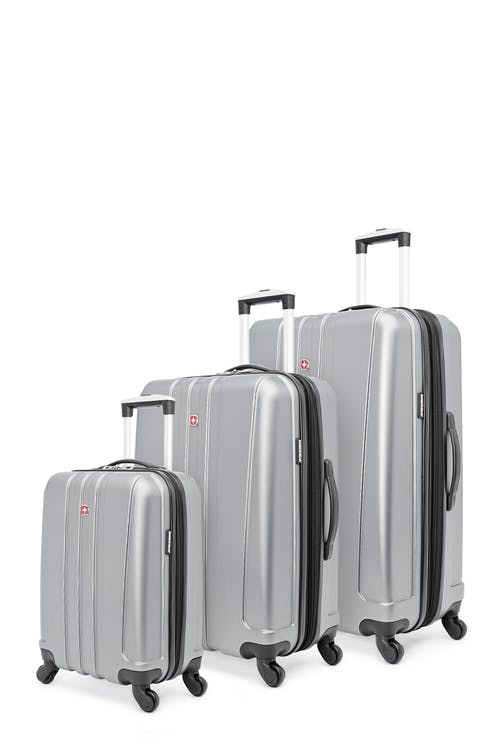 Swissgear Pinnacle Collection Hardside Luggage 3 Piece Set - Grey