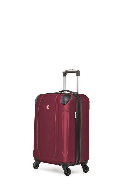 Swissgear Central Lite Collection - Carry-On Hardside Luggage - Oxblood