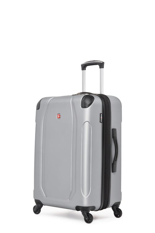 "Swissgear Central Lite Collection 24"" Expandable Hardside Luggage - Silver"