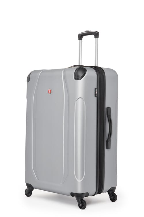 "Swissgear Central Lite Collection 28"" Expandable Hardside Luggage - Silver"
