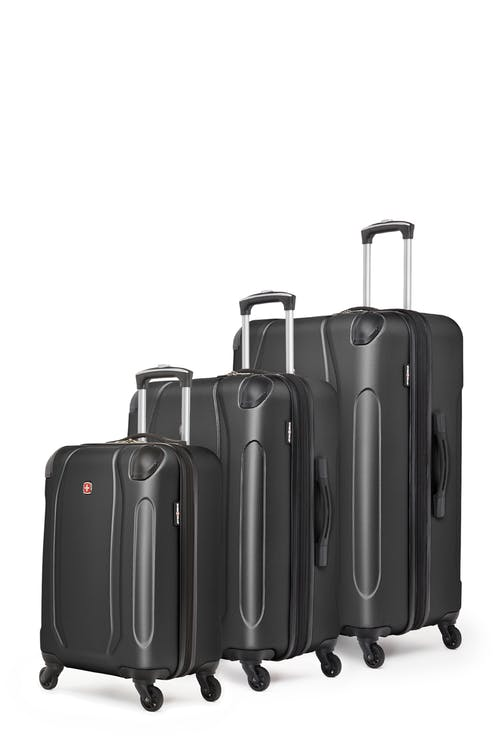 Swissgear Central Lite Collection Hardside Luggage 3 Piece Set - Black