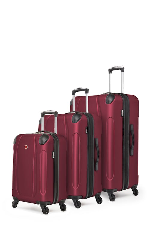 Swissgear Central Lite Collection Hardside Luggage 3 Piece Set - Oxblood